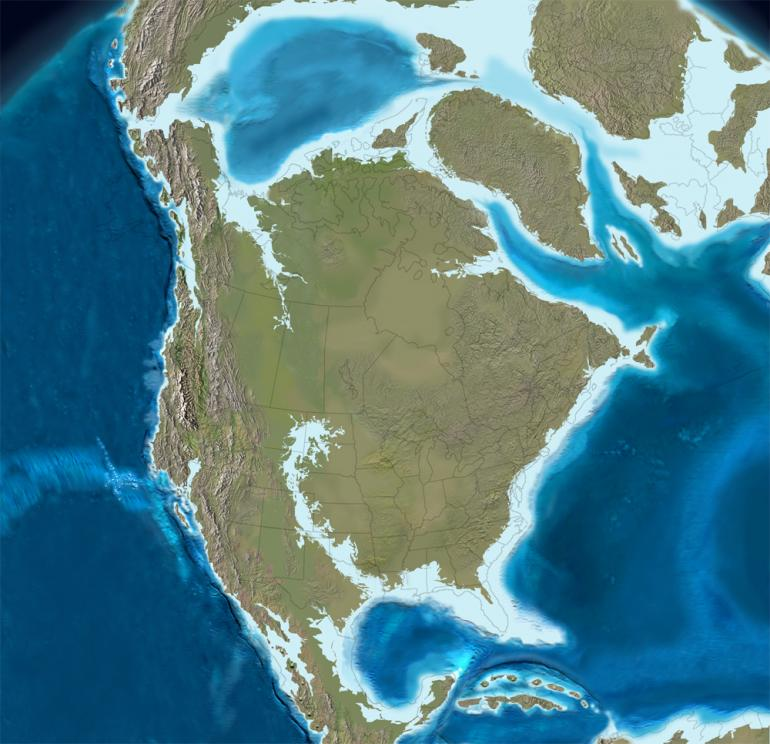 Photo provided by North America 65 Million Years Ago / Ron Blakey